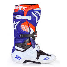 motocross boots size 10 alpinestars limited edition indianapolis tech 10 mx boots white