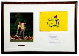 Masters Flag Lot Detail Jack Nicklaus Signed And Framed Masters Flag
