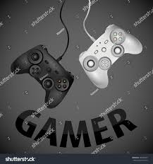 Home Design Realistic Games by Two Realistic Game Joystick White Black Stock Vector 704047855