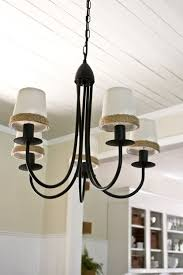 Potterybarn Chandelier Dining Room Ceiling Re Do U0026 Our Pottery Barn Knock Off Chandelier
