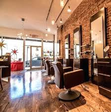 create an elegant statement with a white brick wall hair salon