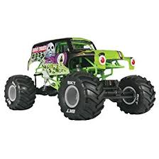 rc monster jam trucks amazon com axial smt10 grave digger monster jam 4wd rc monster