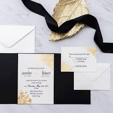 invitation pocket black and gold glitter pocket wedding invitations ewpi199 as low