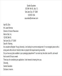 cover resume letter exles cover letter exles for students summer adriangatton
