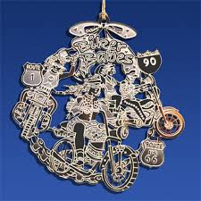 gold plated christmas ornaments plated biker christmas ornament