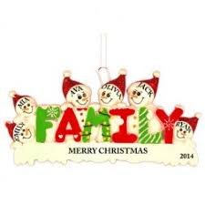 family of 6 family collection personalized ornaments
