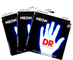 2 pack with free 3rd set dr hi def neon white k3 coated electric guitar strings 29 gif