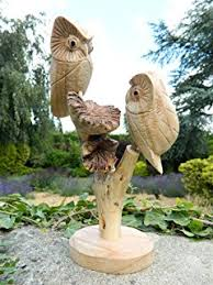 fabulous outdoor garden wood effect owl ornament statue indoor