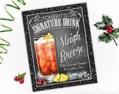 thanksgiving decoration signature drink sign by rockinchalk bar