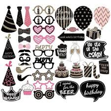 photo booth props diy diy happy birthday girl photo booth props deluxe set