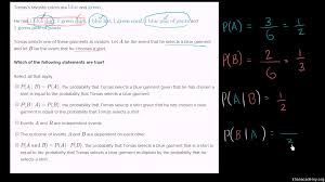 dependent and independent events practice khan academy