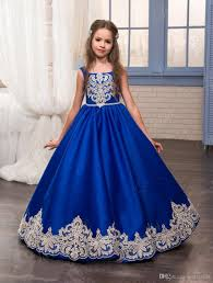 kids christmas dresses for party 2017 royal blue birthday
