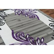 Purple Area Rug 8x10 Amazing Gray And Purple Area Rug Cievi Home In Inside Grey Rugs