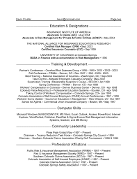 Resume Affiliations Examples by Insurance Manager Resume Example