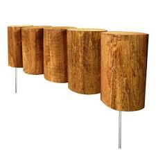 vigoro 1 3 ft wood full log edging logs landscaping ideas and