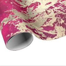 shiny pink metallic wrapping paper zazzle