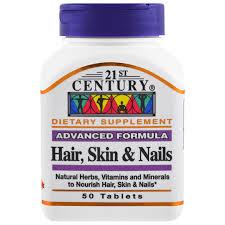 vitamins for hair over 50 21st century hair skin nails advanced formula 50 tablets