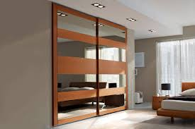 contemporary wardrobe wooden lacquered wood with sliding