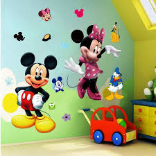 cute mickey mouse wall decals minnie mouse baby nursery ideas