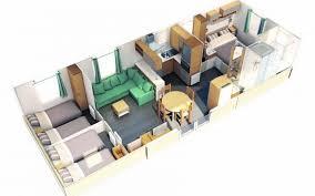 mobil home emeraude 2 chambres emeraude 3 résidences mobiles atlantique