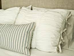 how to sew ruched fabric pillow shams hgtv
