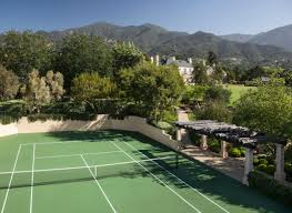 Backyard Tennis Courts 10 Homes With Tennis Courts That Make Us Want To Play Like Venus