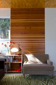 horizontal wood paneling living room modern with accent wall