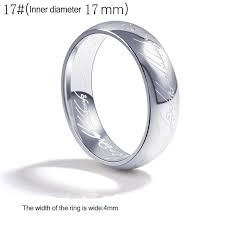 Engagement Gift From Parents Aliexpress Com Buy Lord Of The Ring Titanium Steel Wedding Rings