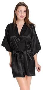 robe de chambre satin soir en satin de soie kimono robe peignoir court parfait de