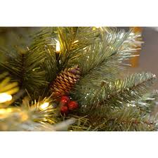 werchristmas pre lit scandinavian spruce pine cone and berry
