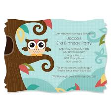 design cheap wording for owl birthday invitations with modern