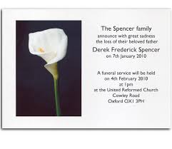 Funeral Invitation Sample Funeral Announcement Cards Death Announcement Cards And