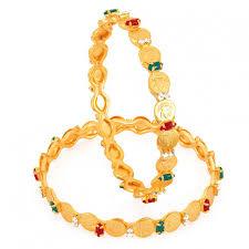 bangle bracelet color gold plated images Online shopping sukkhi gold plated color lord lakshmi bangles jpg