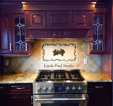 kitchen backsplash ideas pictures and installations custom 2 grapes medallion