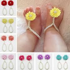 baby girl rings images Baby girls barefoot pearl flower foot band toe rings sandals socks jpg