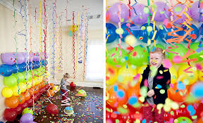 Cheap Party Centerpiece Ideas by Adorable Party Balloons Decorations With Nice Ornamen Paper On