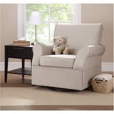 White Glider Rocker Furniture Cozy Dark Pergo Flooring With White Baseboard And White