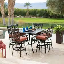 Patio Bar Height Dining Table Set Balcony U0026 Bar Height Patio Dining Sets On Hayneedle Balcony