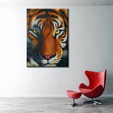 popular tiger head wall art buy cheap tiger head wall art lots housewarming gift animal painting wall art beautiful tiger head high quality picture oil painting print on