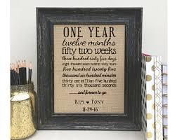 monogrammed anniversary gifts one year anniversary etsy