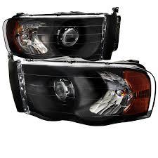 02 dodge ram headlights 02 05 dodge ram 1500 2500 3500 projector headlights black