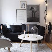 salon canapé noir idee deco salon canape noir maison design bahbe com