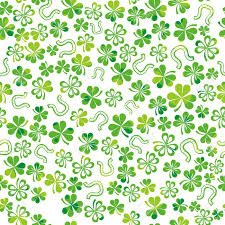 green background with shamrock vector illustration royalty free