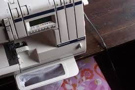 an upcycled skirt and new serger love clean