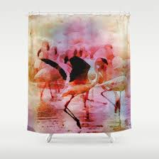 49 best pink flamingo shower curtain images on pinterest curtain