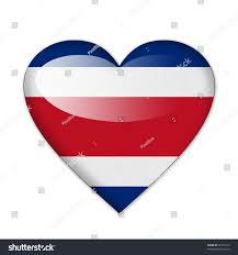 Costa Rico Flag Costa Rica Flag Heart Shape Isolated Stock Illustration 95252710