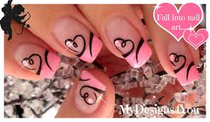 easy valentine u0027s day nail art cute heart french tip nails