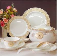 bone china 56pcs ceramic porcelain tableware dinnerware set