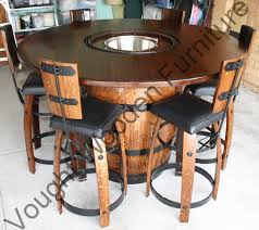 Barrel Bistro Table Wine Barrel Bistro Table Wine Barrel Bistro Table With A