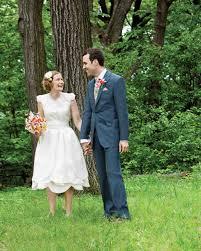 how real brides wore short wedding dresses martha stewart weddings